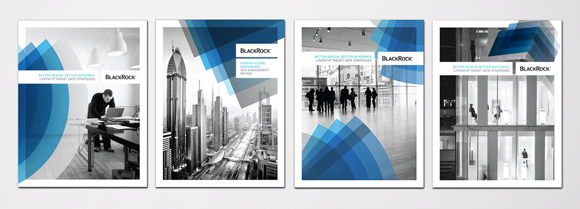 Printed collateral covers for financial services rebrand