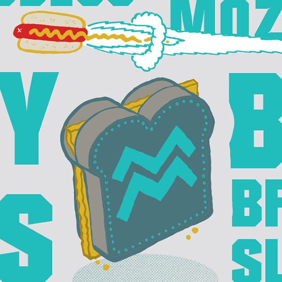 Food truck illustration detail