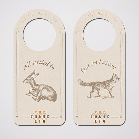 Set of hang tags for boutique hotel