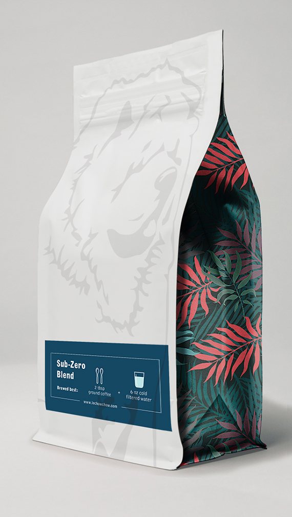Cafe coffee bag back branding