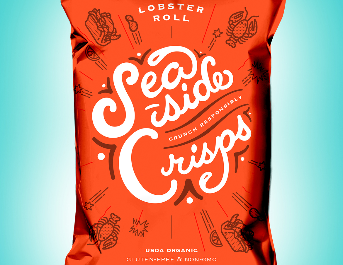 Potato chip packaging and branding