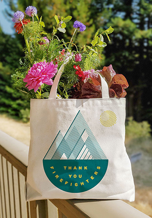 Thank You Firefighters tote