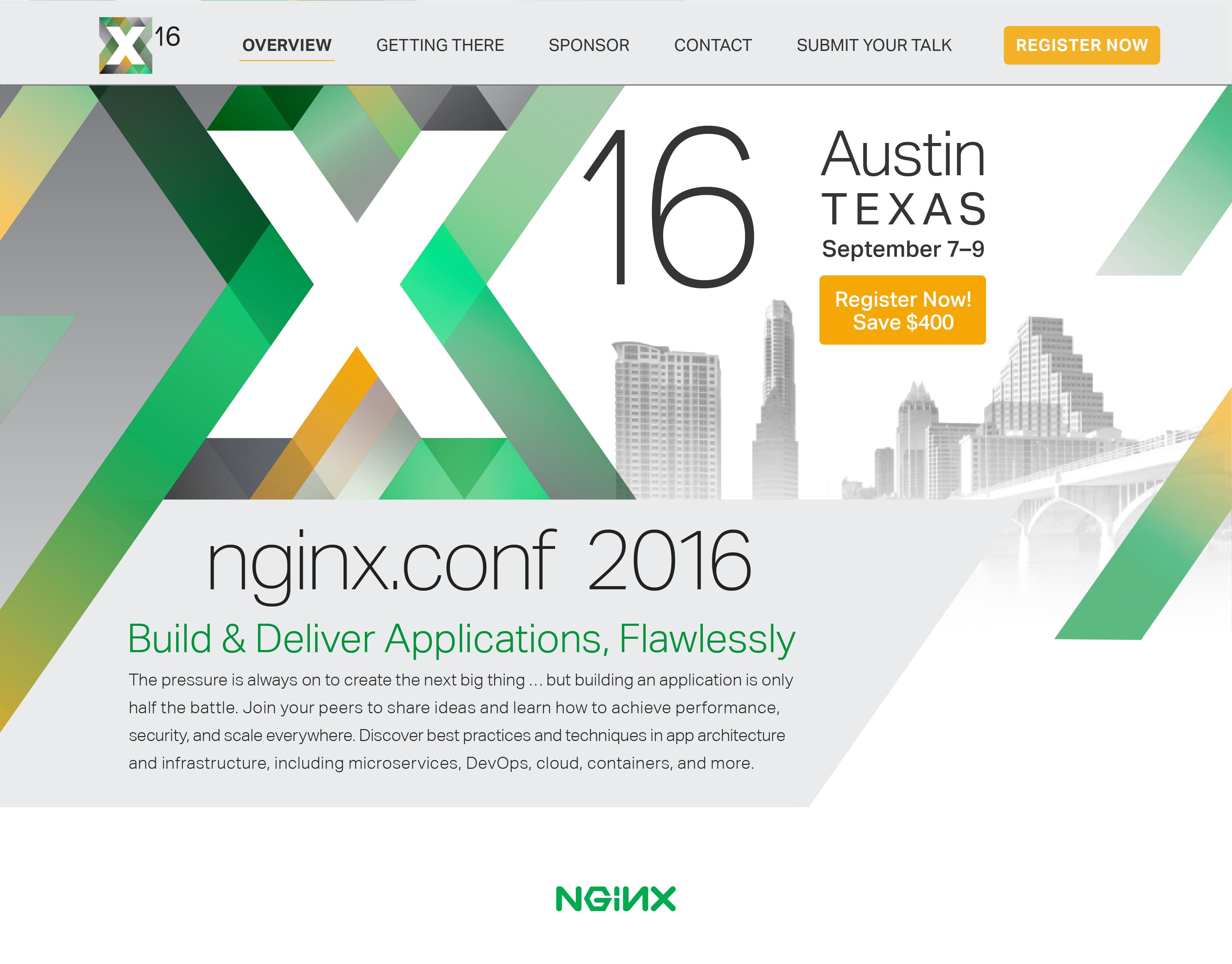 NGINX Conf Austin homepage