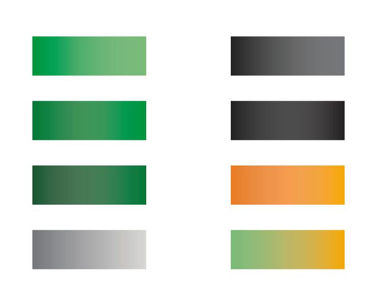 Color palette gradients for NGINX Conf Austin